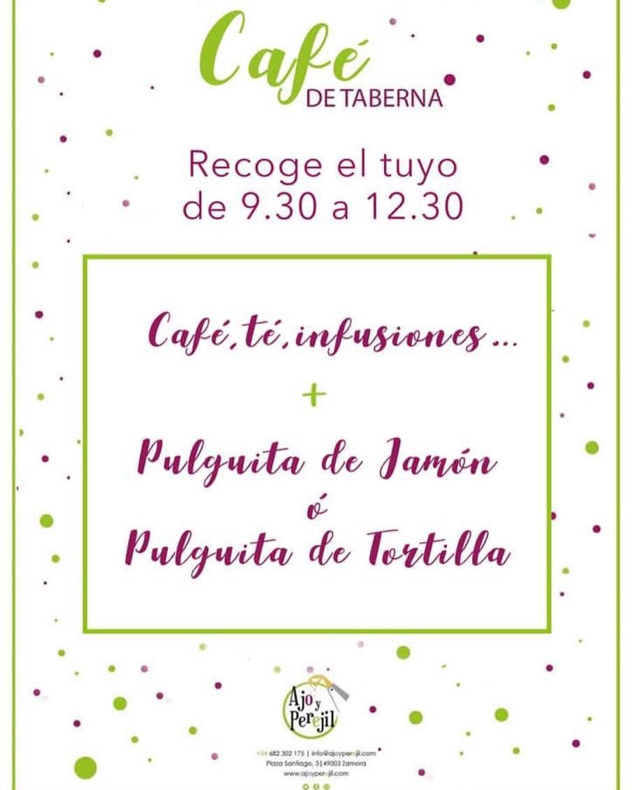 Desayunos para recoger Taberna Ajo y Perejil de Zamora